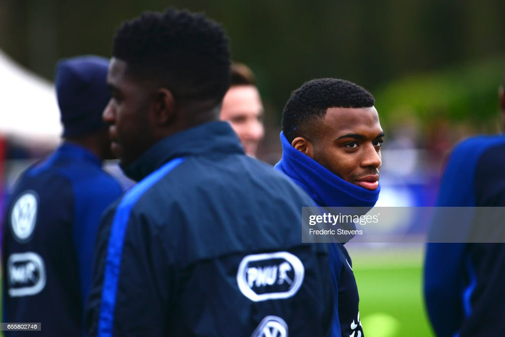 French Football Team midfielder Thomas Lemar during the training session on March 20, 2017 in Clairefontaine, France. The training session comes before the upcoming qualifying match against Luxembourg next saturday for the 2018 World Cup.