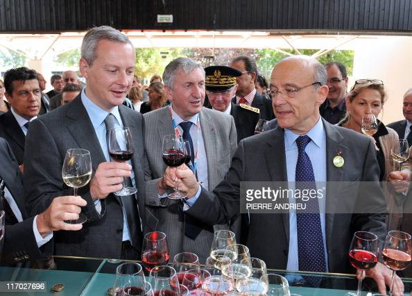 French Foreign Affairs Minister and Bordeaux's mayor Alain Juppe French Agriculture minister and Former French president of national Federation of...
