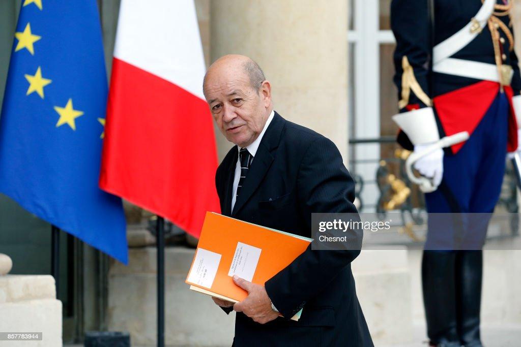 French President Emmanuel Macron Receives Iraq's Prime Minister Haidar Al-Abadi At Elysee Palace In Paris