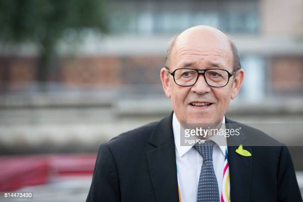 French Foreign Affairs minister JeanYves Le Drian joins the the G 20 summit on July 07 2017 in Hamburg Germany