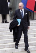 French Foreign Affairs Minister Laurent Fabius leaves the Elysee Palace after the weekly cabinet meeting on January 3 in Paris France The cabinet...