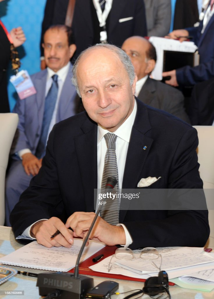French Foreign Minister Laurent Fabius attends a conference of the Friends of Syria group meeting of Arab and Western states in Marrakesh on December 12, 2012. Countries opposed to President Bashar al-Assad's regime met in Morocco for talks on Syria's 21-month conflict after the US gave official backing to a new opposition bloc.
