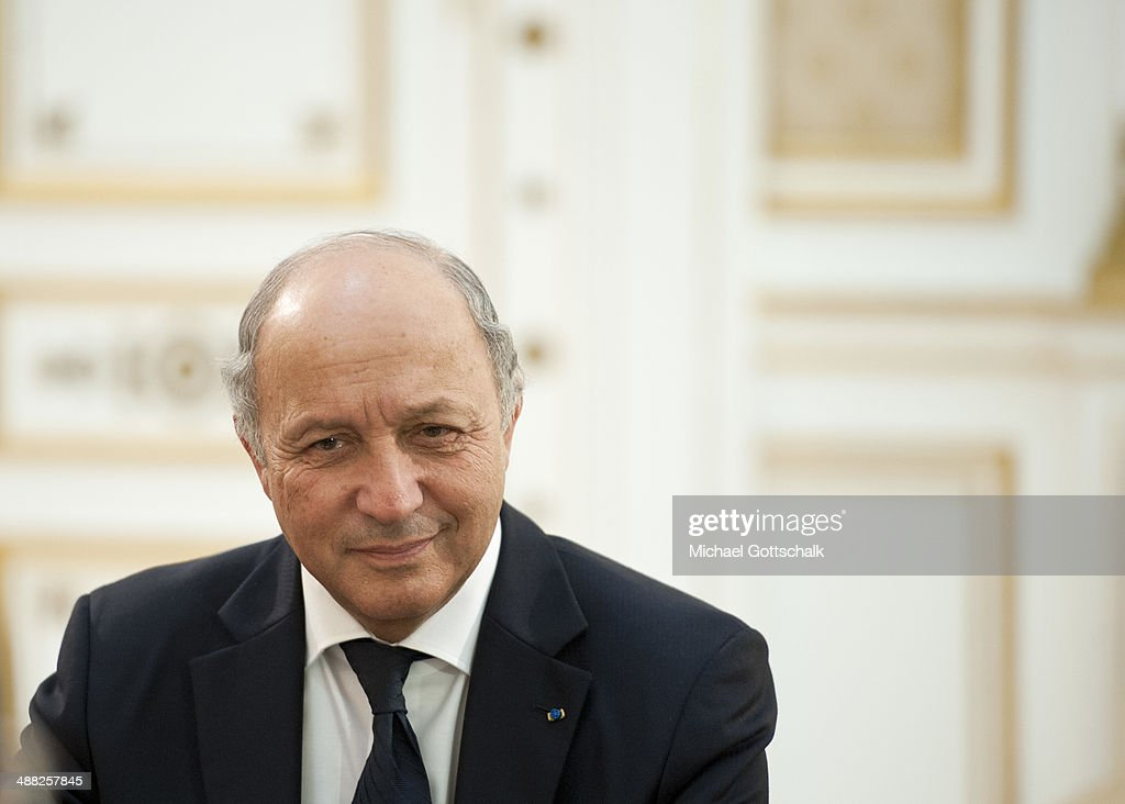French Foreign Minister <a gi-track='captionPersonalityLinkClicked' href=/galleries/search?phrase=Laurent+Fabius&family=editorial&specificpeople=540660 ng-click='$event.stopPropagation()'>Laurent Fabius</a> on April 24, 2014 in Tunis, Tunisia.