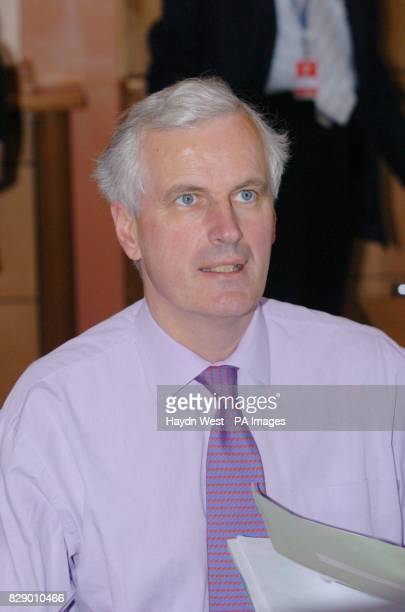 French Foreign Minister Michel Barnier during an Informal Meeting of Foreign Minsters in Tullamore Co Offaly Ireland