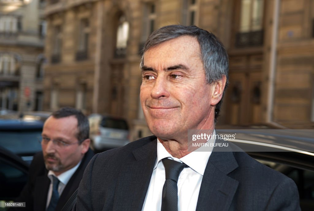 French former Budget minister Jerome Cahuzac arrives at the financial pole in Paris, on April 2, 2013. Cahuzac, who resigned on March 19, was being heard by investigating judges on April 2, 2013 as part of a probe into a Swiss bank account he allegedly used to hide assets from the tax authorities. Cahuzac admitted to have a foreign account amid tax probe.