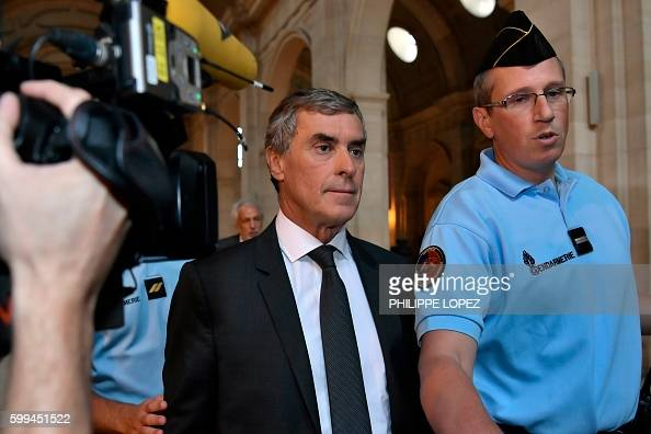 French former budget minister Jerome Cahuzac arrives on September 5 2016 at the Paris courthouse for his tax fraud trial France's former budget...