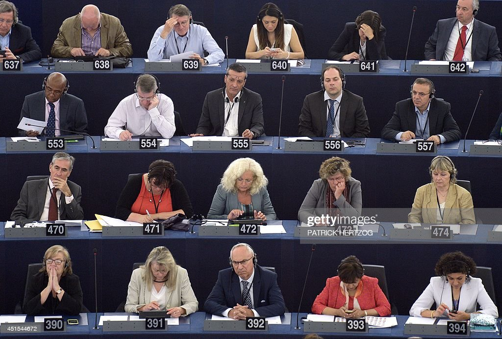 French Former CFDT unionist of ArcelorMittal Florange plant and socialist party's newly elected member of European Parliament Edouard Martin attends...