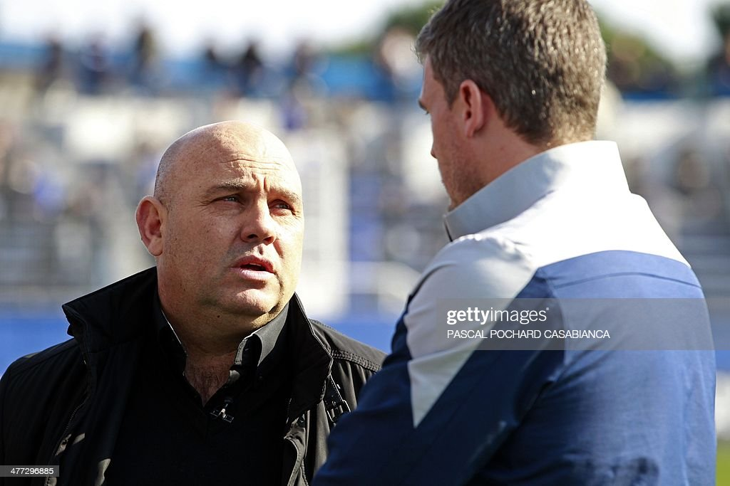 French former coach Frederic Antonetti attends the French L1 football match Bastia (SCB) against Paris (PSG) on March 8 , 2014, in the Armand Cesari stadium in Bastia, Corsica. AFP PHOTO / PASCAL POCHARD-CASABIANCA