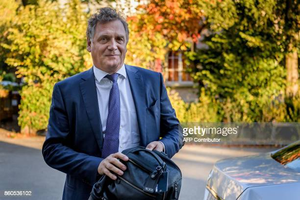 French former FIFA Secretary General Jerome Valcke arrives at the Court of Arbitration for Sport prior to his appeal over his 10 year ban from...
