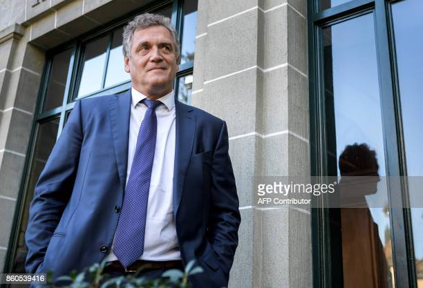 French former FIFA Secretary General Jerome Valcke stands outside the Court of Arbitration for Sport prior to his appeal over his 10year ban from...