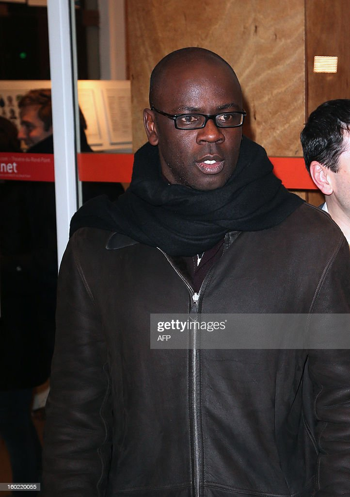 French former football player Lilian Thuram arrives for a special event gathering artists and celebrities in support of French government plans to legalise gay marriage and same-sex adoption on January 27, 2013 in Paris, two days before parliament takes up the text, which has been met with strong opposition from the right and the Catholic Church.