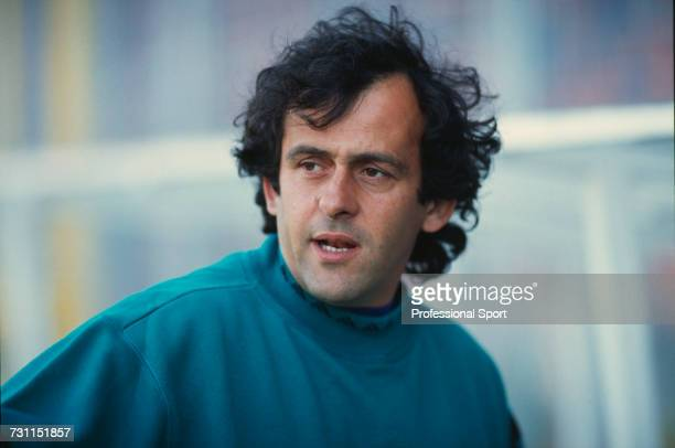French former footballer and manager of the France national team Michel Platini pictured during the group 1 match between Sweden and France in the...