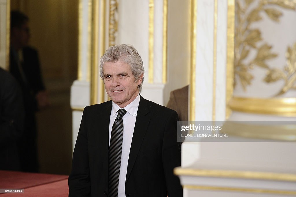 French former journalist and newly appointed French President's communication adviser, Claude Serillon is pictured on January 12, 2013 at the Elysee presidential palace in Paris. AFP PHOTO / POOL / LIONEL BONAVENTURE