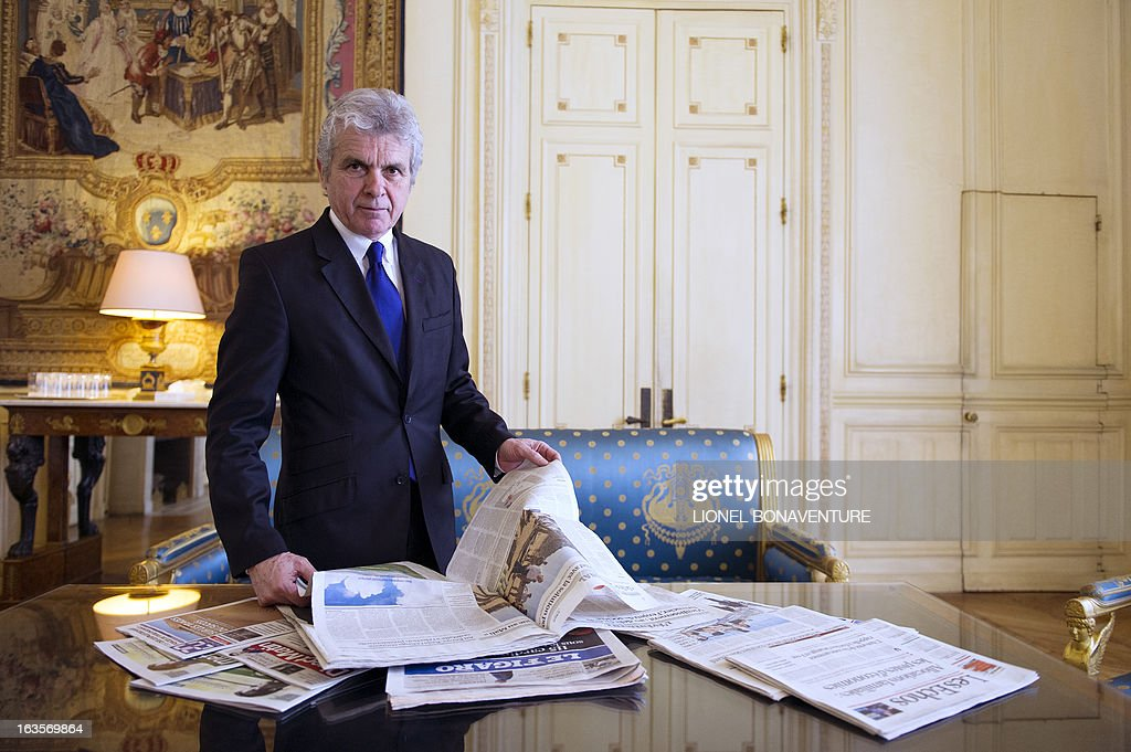 French former journalist and newly appointed French President's communication adviser, Claude Serillon, poses on March 12, 2013 at the Elysee presidential palace in Paris.