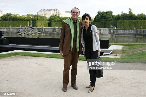 French former Justice Minister and European Deputy Rachida Dati JeanJacques Aillagon President of the ''Chateau de Versailles'' in Versailles France...