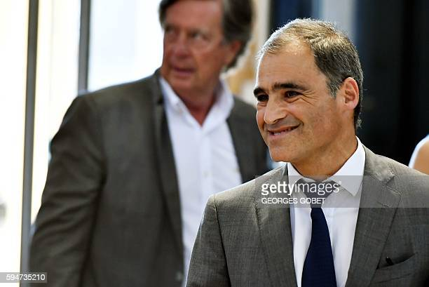 French former lawyer of the heiress of the cosmetics group L'Oreal Pascal Wilhelm arrives at the Appeal court of Bordeaux southwestern France on...