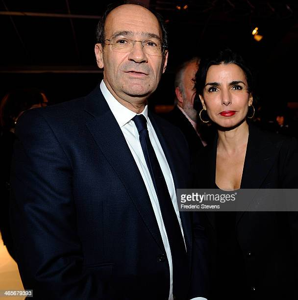 French Former minister Eric Woerth and mayor of 7th district of Paris Rachida Dati during the 29th International Automobile Festival on January 28...