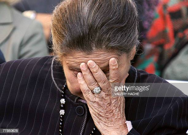 French former minister Simone Veil attends a ceremony 16 October 2007 in Nice in memory of her brother and other 10 jewish children members of Parc...