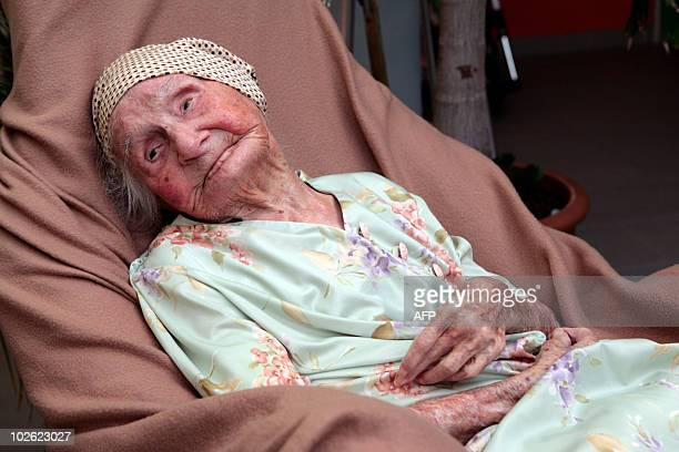 French former nun Eugenie Blanchard poses on May 10 2010 at the hospital Bruyn in Gustavia on the French overseas island of SaintBarthelemy Blanchard...