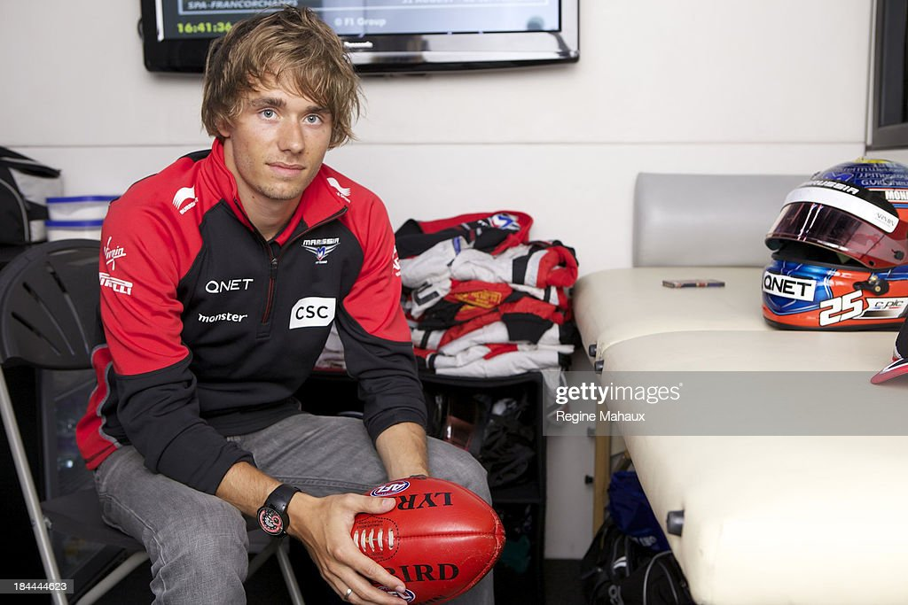French Formula One driver <a gi-track='captionPersonalityLinkClicked' href=/galleries/search?phrase=Charles+Pic&family=editorial&specificpeople=8708875 ng-click='$event.stopPropagation()'>Charles Pic</a> is photographed for Self Assignment on September 18, 2012 in Malmedy, Belgium.
