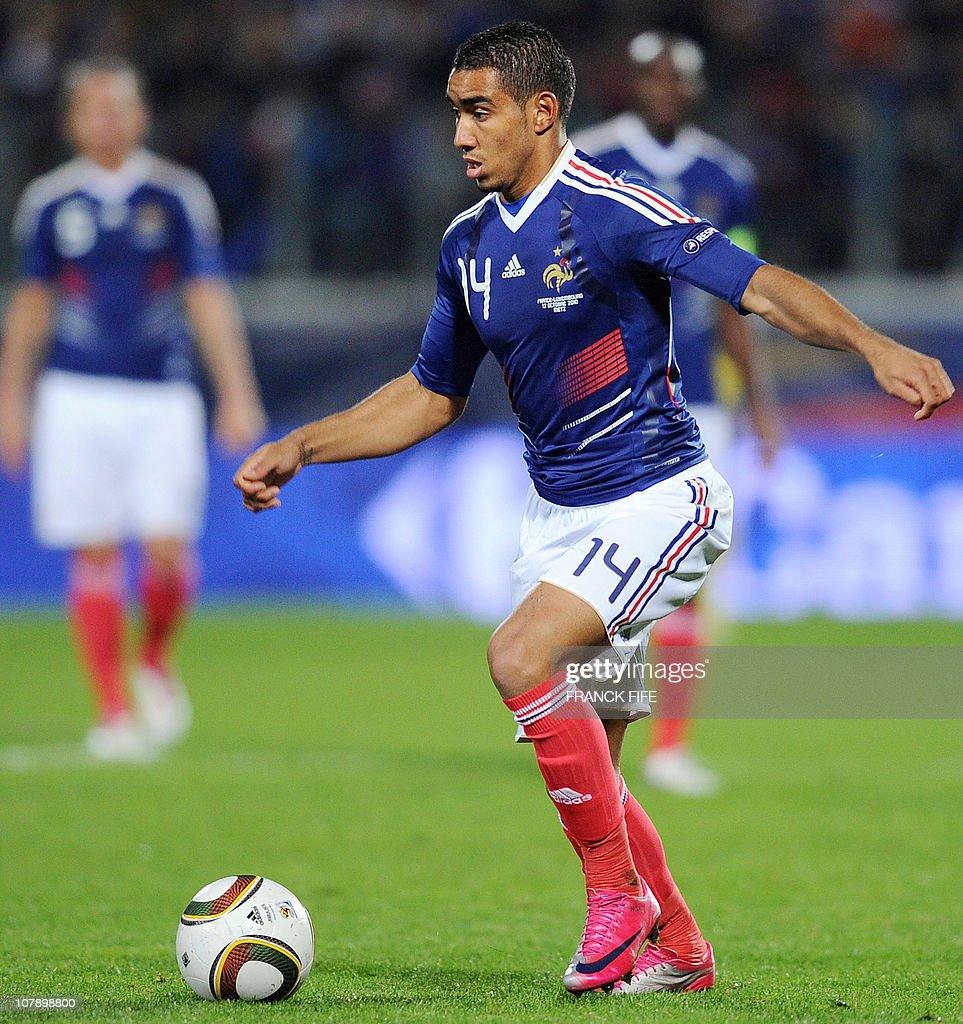 French forward Dimitri Payet controls th
