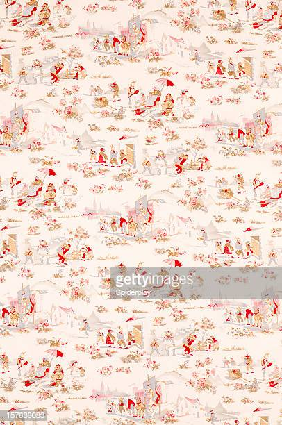 French Fox Wide Vintage Fabric