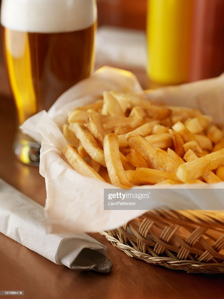 French Fries and a Beer