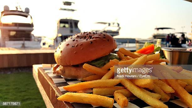 Incidental people stock photos and pictures getty images for Table burger