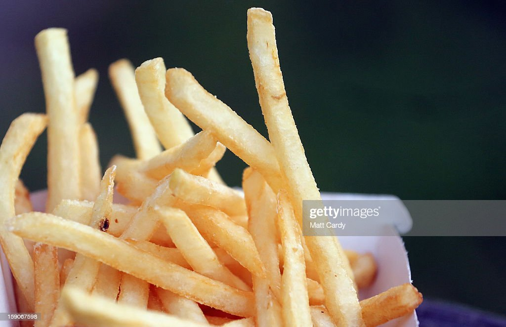 French fries from a fast food outlet is seen on January 7, 2013 in Bristol, England. A government-backed TV advert - made by Aardman, the creators of Wallace and Gromit - to promote healthy eating in England, is to be shown for the first time later today. England has one of the highest rates of obesity in Europe - costing the NHS 5 billion GDP each year - with currently over 60 percent of adults and a third of 10 and 11 year olds thought to be overweight or obese.