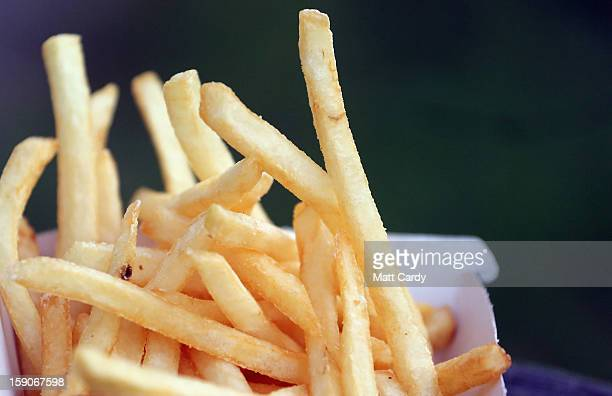 French fries from a fast food outlet is seen on January 7 2013 in Bristol England A governmentbacked TV advert made by Aardman the creators of...