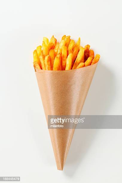 French fries in a paper cone