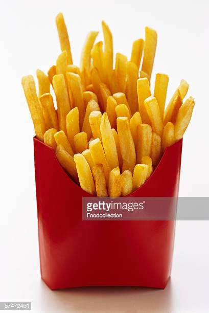 French Fries in Red Fast Food Box