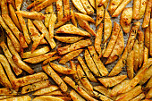 Homemade french fries, crispy and delicious