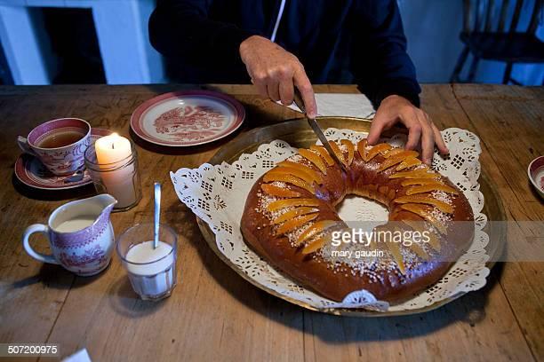 French Galette des Rois cake