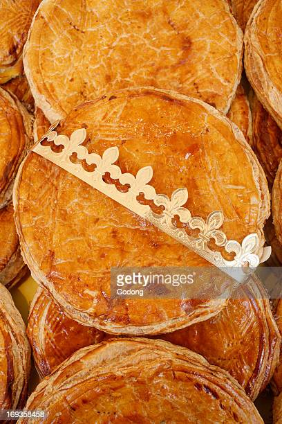 French galette des rois pastry eaten on Epiphany day