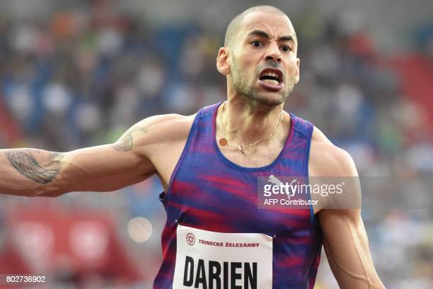 French Garfield Darien competes during the IAAF World Challenge Zlata Tretra athletics tournament in Ostrava Czech Republic on June 28 2017 / AFP...
