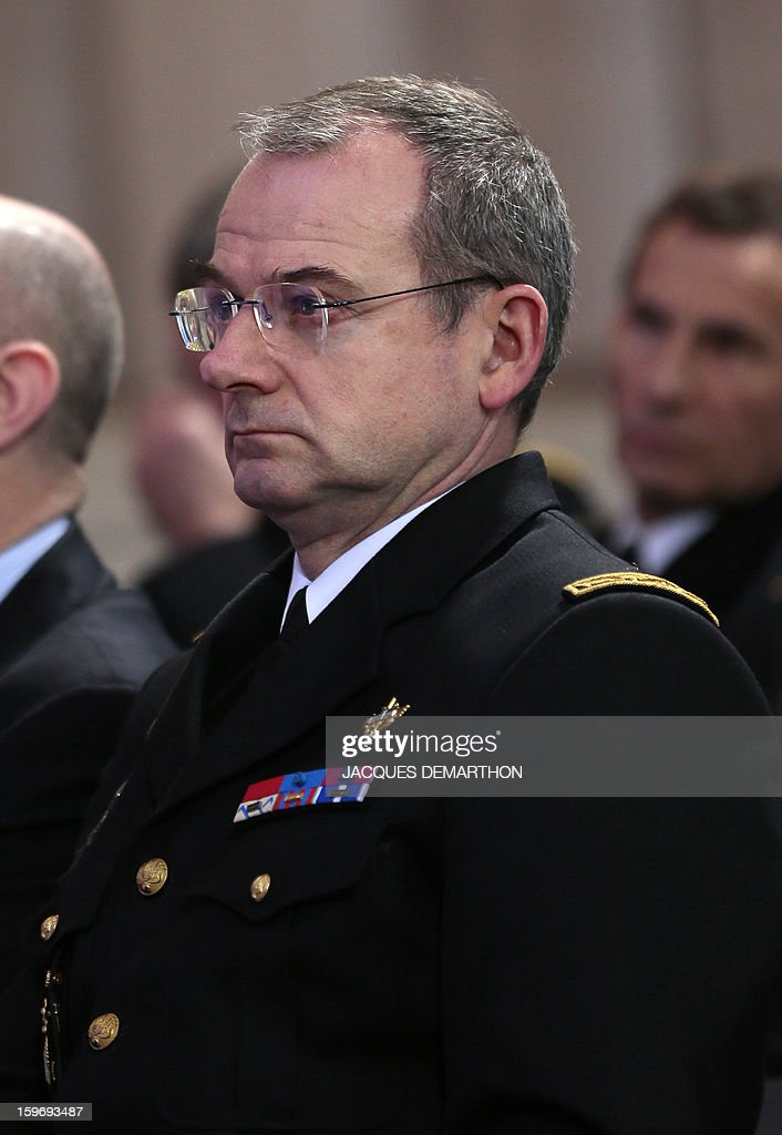 French gendarmerie general major Richard Lizurey attends the presentation by French Interior minister of the report of the past year and the prospects of the security policy for the upcoming yearon January 18, 2013 at the ministry in Paris.