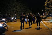 French Gendarmes patrol in Boyenval district in BeaumontsurOise on July 22 following clashes between residents and police over the death of Adama...