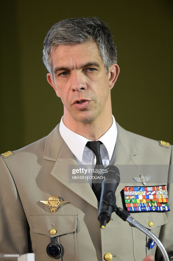 french general gregoire de saint quentin delivers a speech during the pictures getty images. Black Bedroom Furniture Sets. Home Design Ideas