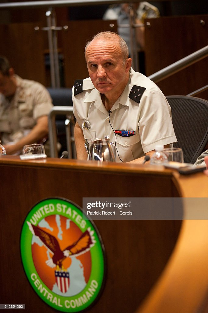 French General JeanLouis Georgelin attends a meeting at the United States Central Command USCENTCOM