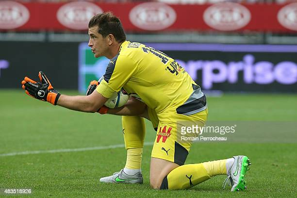 French goalkeeper Cedric Carrasso during the French Ligue 1match between FC Girondins de Bordeaux and Stade de Reims at Nouveau Stade Bordeaux on...