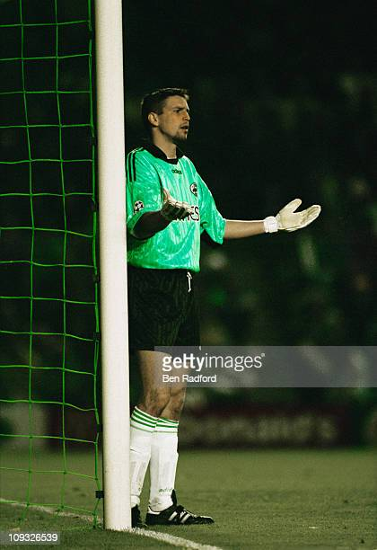 French goalkeeper Dominique Casagrande on the field for FC Nantes during the UEFA Champions League SemiFinal 2nd Leg against Juventus at the Stade de...