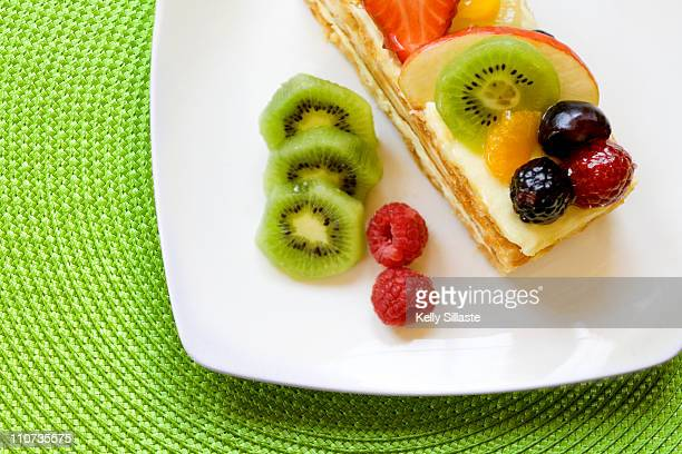 French gourmet cake topped with fruit