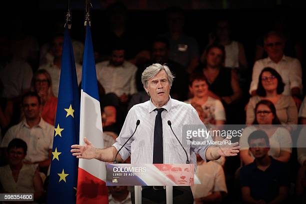 French Government Spokesman and Minister of Agriculture Stéphane Le Foll speaks during a resumption of the left wing Socialist Party on August 29...