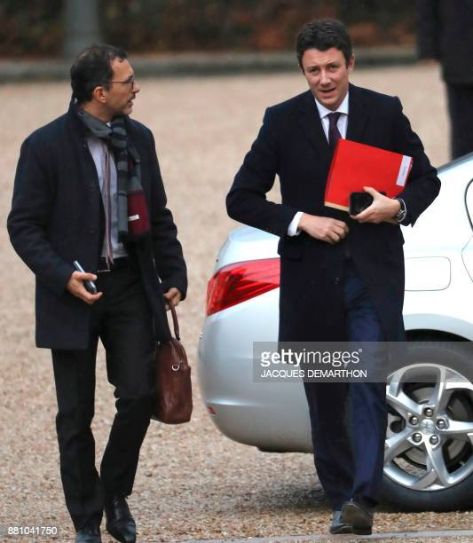 French Government's spokesperson Benjamin Griveaux arrives for a session of questions to the government at the National Assembly in Paris on November...