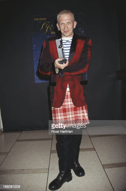 French haute couture and PretaPorter fashion designer Jean Paul Gaultier at the 24th Annual FiFi Awards being held at the Lincoln Center New York...