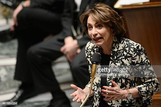 French Health Minister Marisol Touraine answers Members of Parliament's questions during a session of Questions to the Government on January 21 2015...