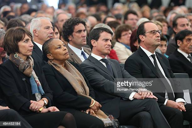 French Health Minister Marisol Touraine French Justice Minister Christiane Taubira French Prime Minister Manuel Valls and French President Francois...