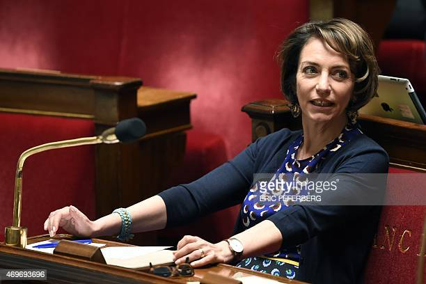 French Health Minister Marisol Touraine looks on after members of the French National Assembly voted to pass a proposed health bill at the National...