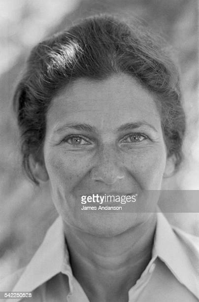 French Health Minister Simone Veil during summer vacation Veil served as Health Minister in Jacques Chirac's government from May 28 1974 to August 25...